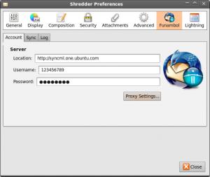 Thunderbird Funambol Sync Konfiguration 1