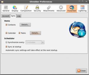 Thunderbird Funambol Sync Konfiguration 2
