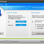 TeamViewer Linux Verbindungsfenster