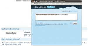 Twitter Share Bookmarklet