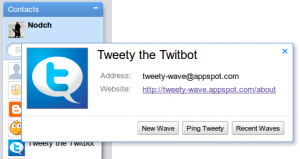 Tweety für Google Wave