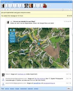 Blogger Wave mit Google Maps Gadget