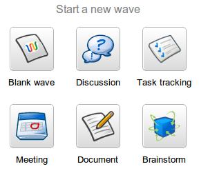 Google Wave - neue Startbuttons