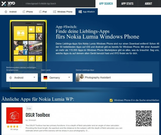 Windows Phone 8 Alternative App #Switch