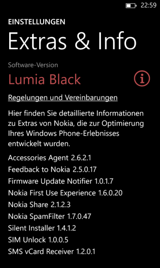 Black Update auf Nokia Lumia 1020