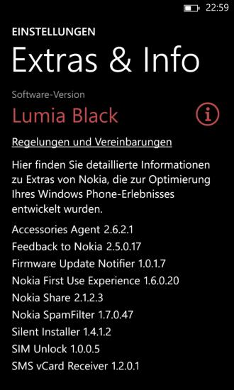 Black Update auf Nokia Lumia 1020